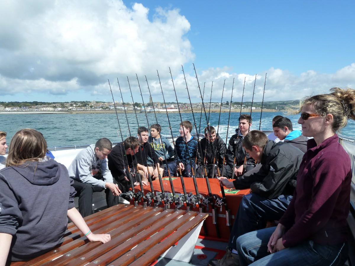 Our range of fishing trips mermaid pleasure trips penzance for Fishing boat trips